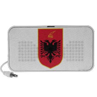 Escudo de armas de Albania Laptop Altavoz
