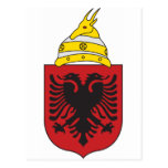 Escudo de armas de Albania Postales
