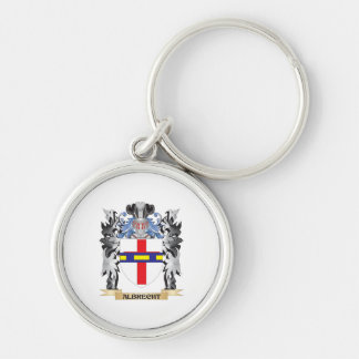 Escudo de armas de Albrecht - escudo de la familia Llavero Redondo Plateado