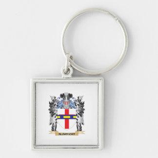 Escudo de armas de Albrecht - escudo de la familia Llavero Cuadrado Plateado