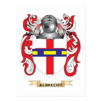 Escudo de armas de Albrecht (escudo de la familia) Postal