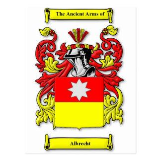 Escudo de armas de Albrecht Tarjeta Postal