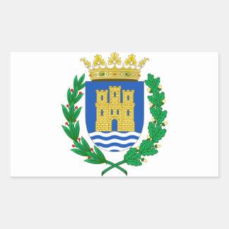 Escudo de armas de Alcalá de Henares (España) Pegatina Rectangular