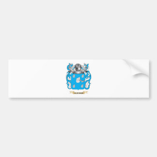 Escudo de armas de Aleman (escudo de la familia) Etiqueta De Parachoque