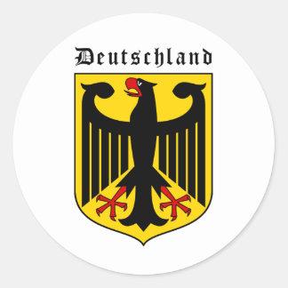 Escudo de armas de Alemania Pegatina Redonda