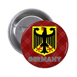 Escudo de armas de Alemania Pin Redondo 5 Cm