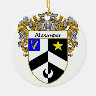 Escudo de armas de Alexander/escudo de la familia Adorno Redondo De Cerámica