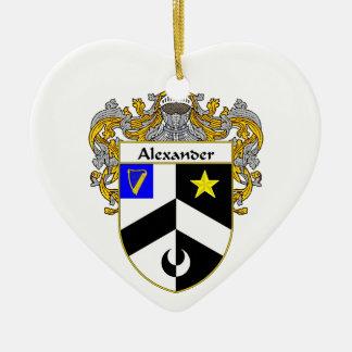 Escudo de armas de Alexander/escudo de la familia Adorno De Cerámica En Forma De Corazón