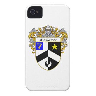 Escudo de armas de Alexander/escudo de la familia iPhone 4 Protectores