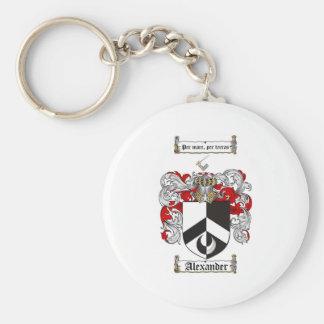 Escudo de armas de Alexander/escudo de la familia  Llavero Redondo Tipo Pin