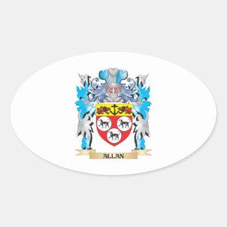 Escudo de armas de Allan Calcomanías De Ovales