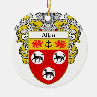 Escudo de armas de Allen/escudo de la familia Adorno Redondo De Cerámica