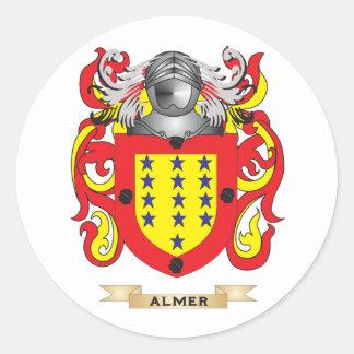 Escudo de armas de Almer (escudo de la familia) Pegatina Redonda