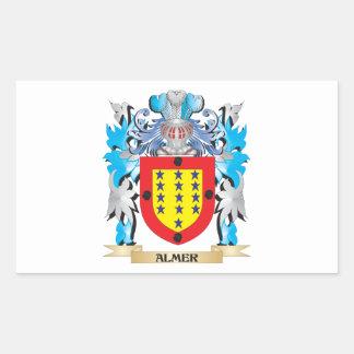Escudo de armas de Almer Rectangular Pegatina