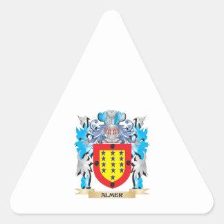Escudo de armas de Almer Calcomanías Trianguladas