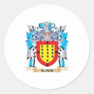 Escudo de armas de Almer Pegatina Redonda