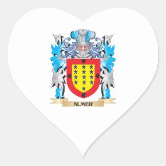 Escudo de armas de Almer Calcomanía De Corazón