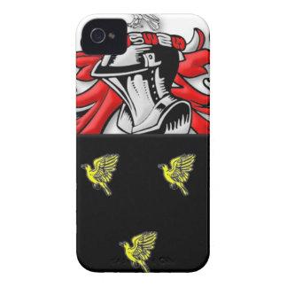 Escudo de armas de Alsop Case-Mate iPhone 4 Protectores