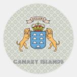 Escudo de armas de alta calidad de las islas Canar Etiqueta
