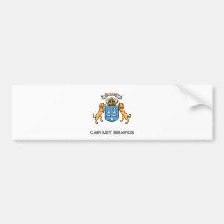 Escudo de armas de alta calidad de las islas Canar Pegatina Para Auto