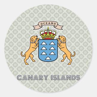 Escudo de armas de alta calidad de las islas pegatina redonda