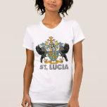Escudo de armas de alta calidad de St Lucia Camisetas