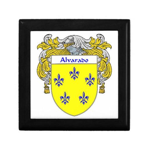 Escudo de armas de Alvarado/escudo de la familia Joyero Cuadrado Pequeño