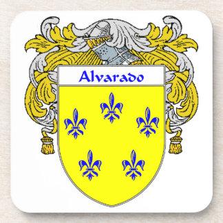 Escudo de armas de Alvarado/escudo de la familia Posavasos De Bebida