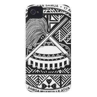 Escudo de armas de American Samoa iPhone 4 Cárcasa