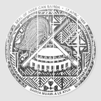 Escudo de armas de American Samoa Pegatina Redonda