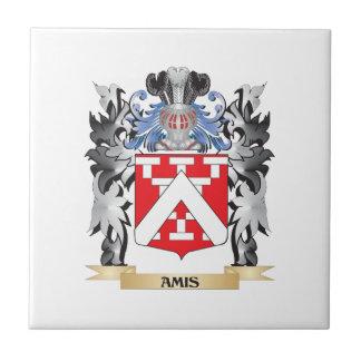 Escudo de armas de Amis - escudo de la familia Azulejo Cuadrado Pequeño