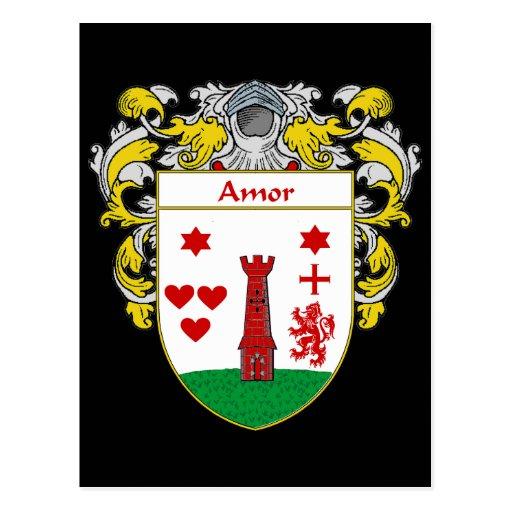 Escudo de armas de Amor (cubierto) Postales