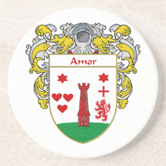 Escudo de armas de Amor/escudo de la familia: Posavasos Manualidades