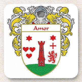 Escudo de armas de Amor/escudo de la familia: Posavasos De Bebidas