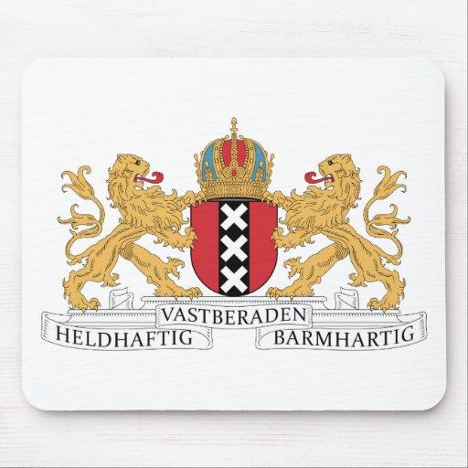 Escudo de armas de Amsterdam Alfombrillas De Ratones