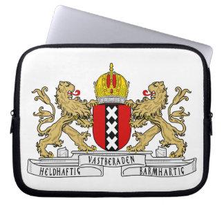 Escudo de armas de Amsterdam Funda Portátil