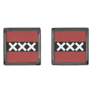 Escudo de armas de Amsterdam Gemelos Metalizados