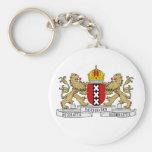 Escudo de armas de Amsterdam Llavero Redondo Tipo Pin