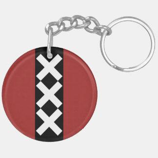 Escudo de armas de Amsterdam Llavero Redondo Acrílico A Doble Cara