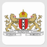 Escudo de armas de Amsterdam Calcomania Cuadrada Personalizada