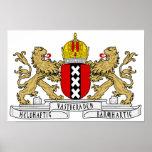 Escudo de armas de Amsterdam Póster