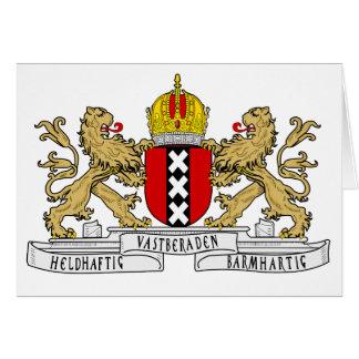 Escudo de armas de Amsterdam Tarjeta Pequeña