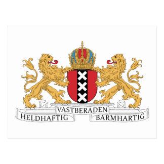 Escudo de armas de Amsterdam Tarjetas Postales
