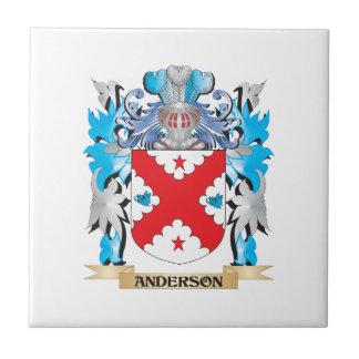 Escudo de armas de Anderson Azulejo Cuadrado Pequeño