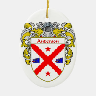 Escudo de armas de Anderson/escudo de la familia Adorno Ovalado De Cerámica