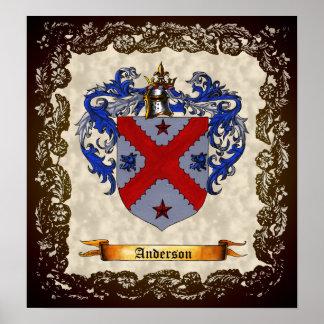 Escudo de armas de Anderson Póster