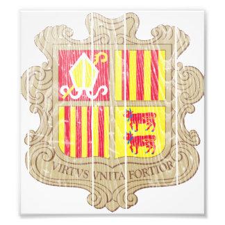 Escudo de armas de Andorra Fotografia