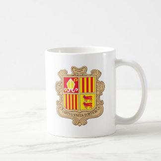 Escudo de armas de Andorra Taza