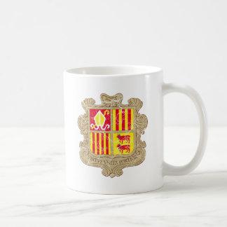 Escudo de armas de Andorra Taza Clásica