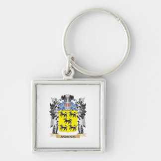 Escudo de armas de Andrade - escudo de la familia Llavero Cuadrado Plateado